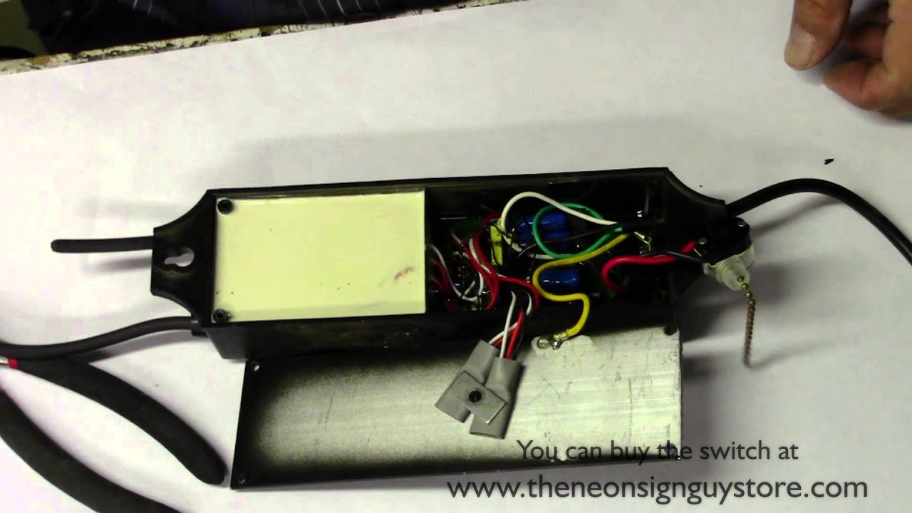 hight resolution of how to replace the switch in a neon sign transformer