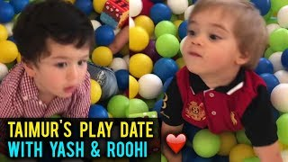 Taimur Ali Khan Plays With Karan Johar Kids Yash & Roohi