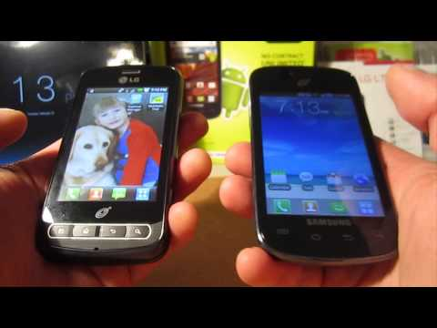 Straight Talk Samsung Galaxy ProclaimSCH-S720C & LG Optimus Zip L75C Comparison