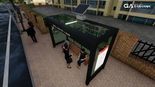 [신재생에너지] 버스 승강장용 태양광가로등 설치 시뮬레…