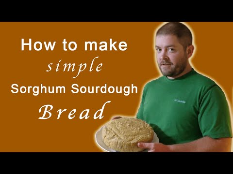 How to Make *simple* Sorghum Sourdough Bread (gluten free and dairy free)