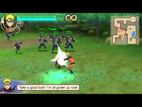(PSP) Naruto Ultimate Ninja Impact gameplay