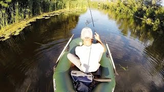 Pike fishing on the river / twitching Jackall Mag Squad 128
