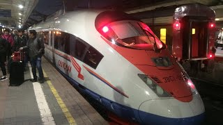 Trip report | Sapsan (High-Speed train) | Moscow-St.Petersburg | Economy
