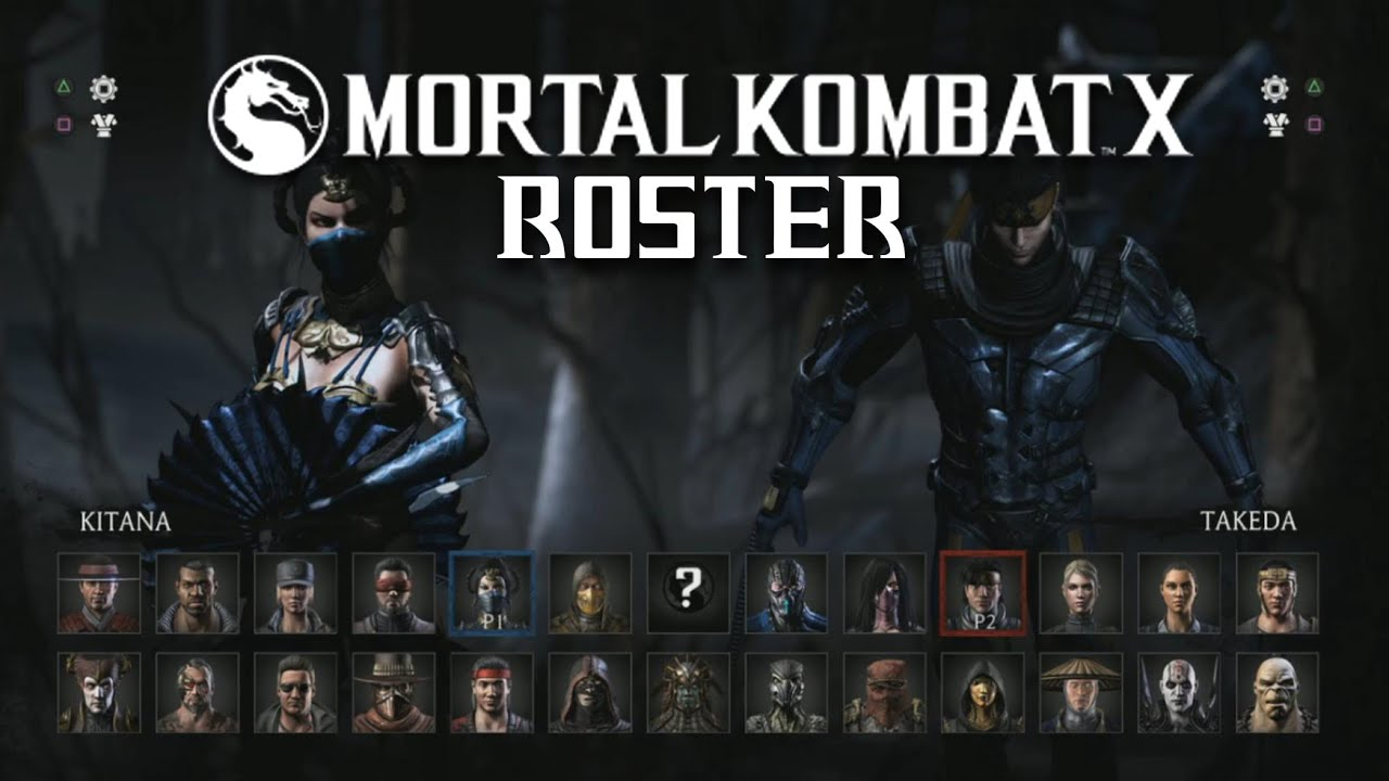 Mortal Kombat X Full Character Select Screen Roster Trailer Youtube