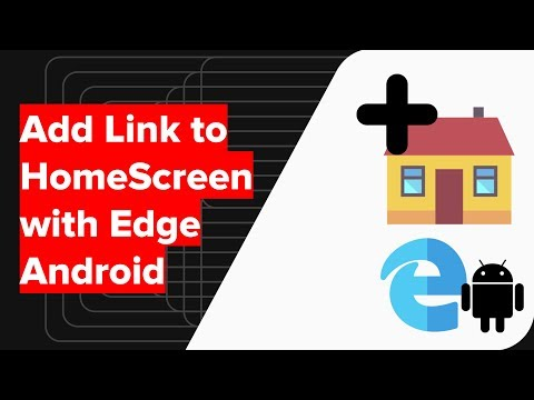 How to Add Link on Home Screen with Edge Android?
