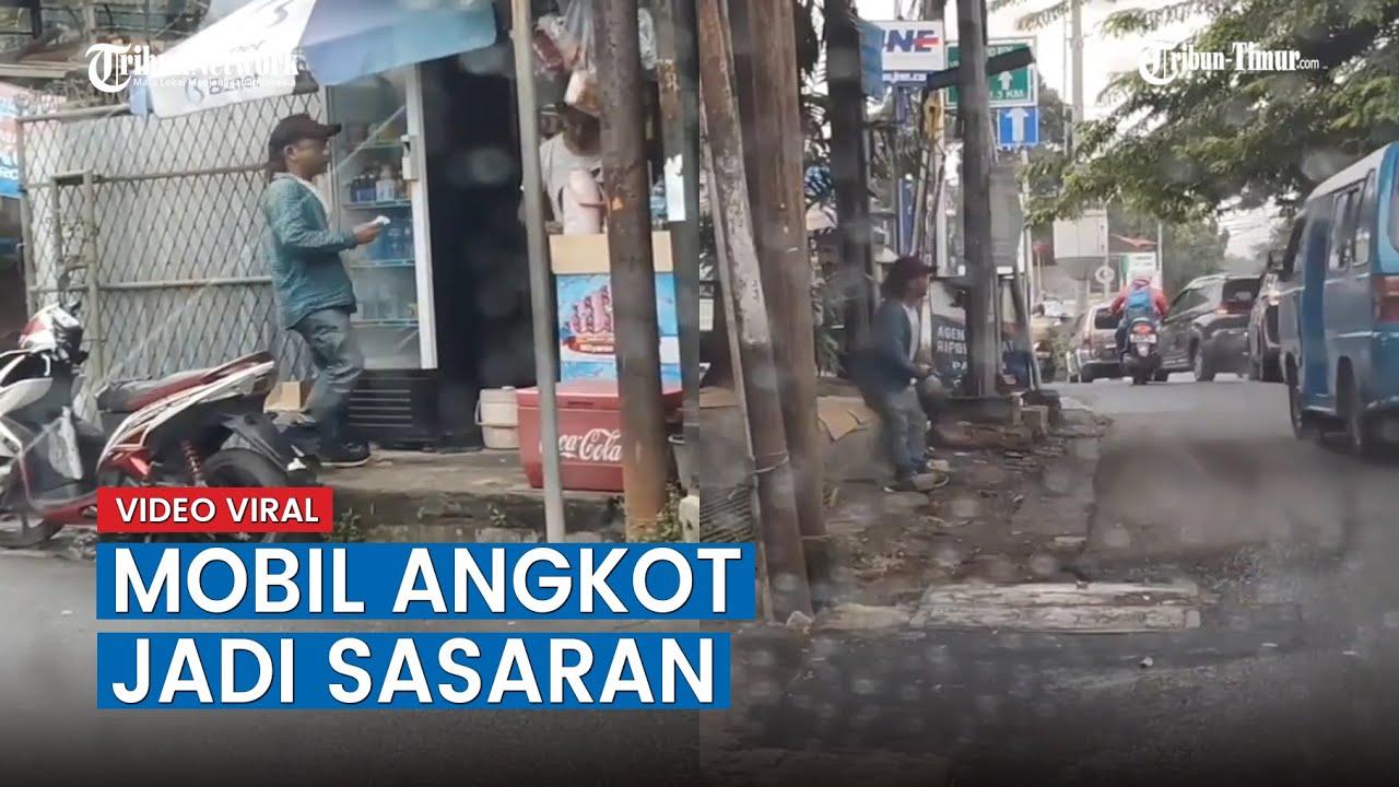 Viral Video Diduga Aksi Premanisme Tertangkap Kamera, Mobil Angkot Jadi Sasaran