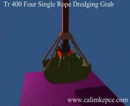 TR400  The Single Rope Dredging Clamshell GRABS