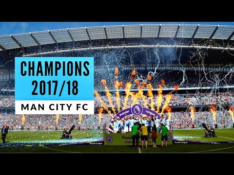 Man City vs Huddersfield Town 🏆 The Champions Lift The Premier League Trophy!