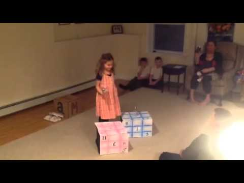 Emmy performing 'Naughty' from Matilda the musical