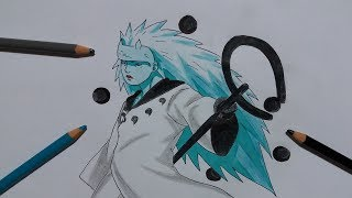 Sage of Six Paths Ten Tails Jinchuriki Madara Uchiha Drawing