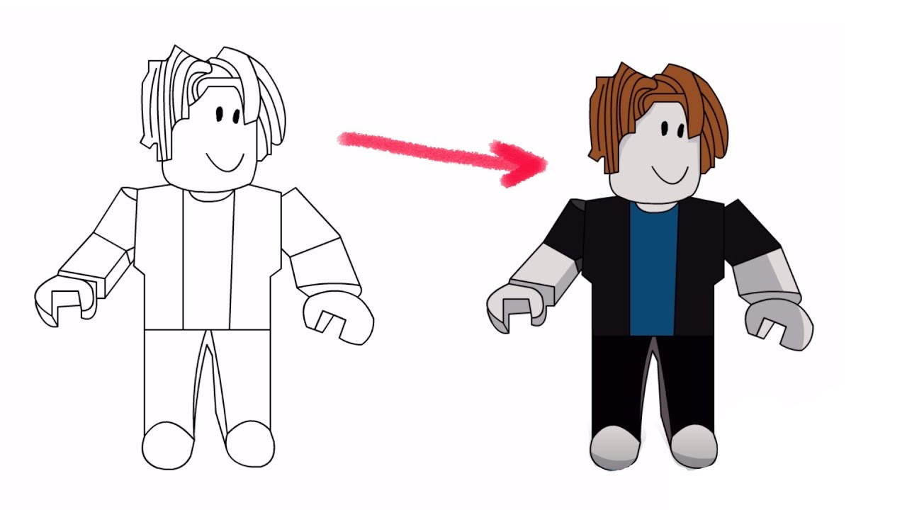 How To Draw Bacon Hair Roblox Drawing Youtube