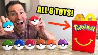 Opening EVERY McDonald's NEW POKEMON TOYS 2019! (Pokemon Cards!)