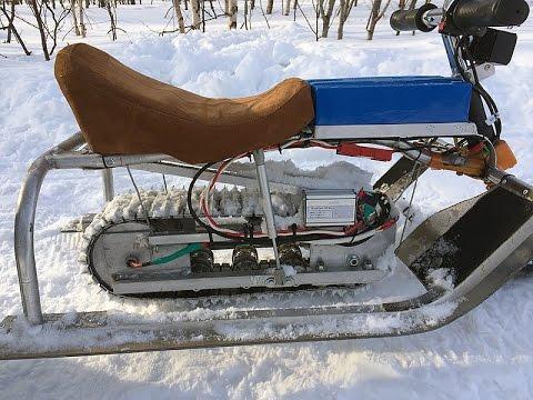 Снегоход из бензопилы и снегоката - Pikabu 81