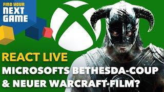 React Live: Was bedeutet Microsofts Bethesda-Kauf und kommt ein neuer Warcraft-Film?