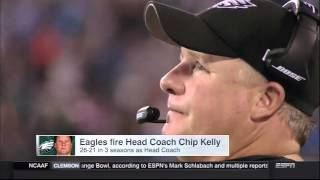 Chip Kelly was fired because the Eagles played on national TV