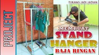 MEMBUAT STAND HANGER BAJA RINGAN ( gantungan Baju )