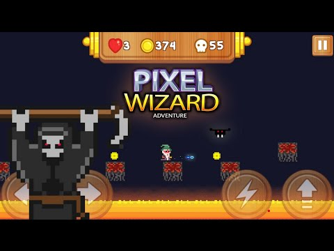 Pixel Wizard Adventure, a brand-new, classic retro-style platform game