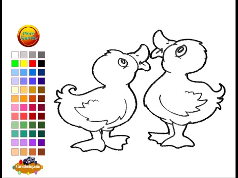 Duckling Coloring Pages For Kids Duckling Coloring Pages Youtube
