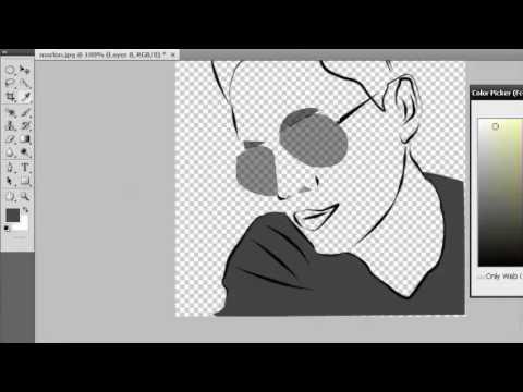 Adobe Photoshop CS4 Simple Cartoon Vector Effect Demo