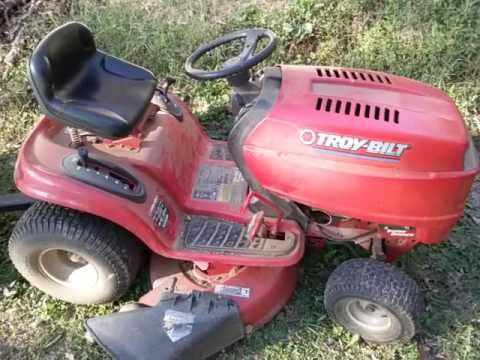 Troy Bilt Super Bronco 19 Hp Lawn Tractor With Dump Cart