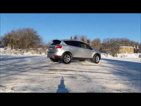 Ford Kuga. Зима. Лед. Полный привод.
