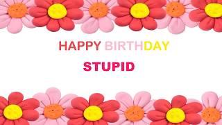 Stupid   Birthday Postcards & Postales - Happy Birthday