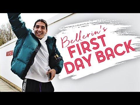 Hector Bellerin returns to Arsenal training centre