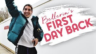 Hector Bellerin returns to Arsenal training centre