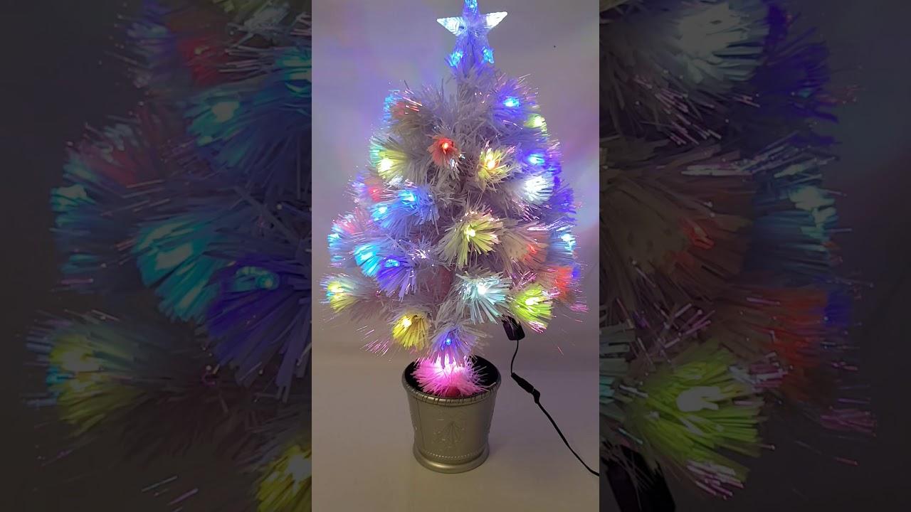 2017 White Led And Fibre Optic 2 Ft Xmas Tree