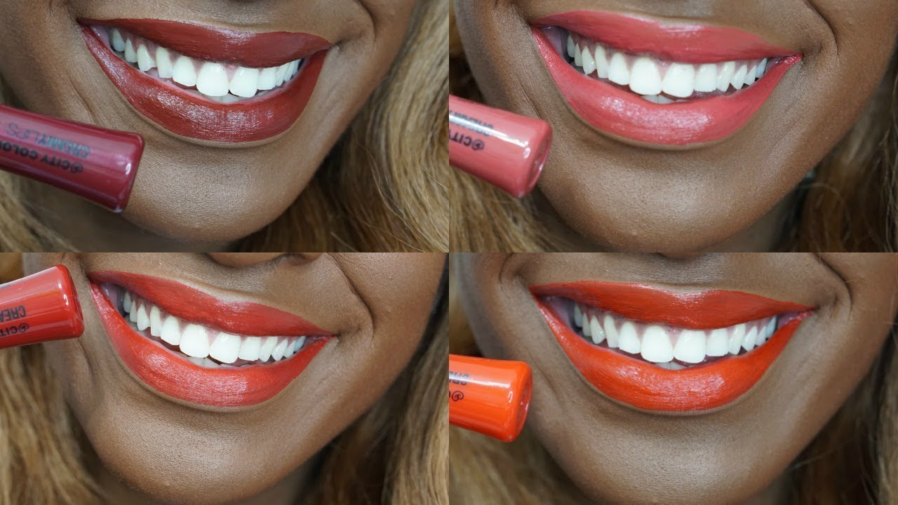City Color Creamy Lips Swatches Nkenna Rose Youtube