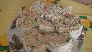 Лаваш с крабовыми палочками Мастерица рецепт / Pita bread with crab sticks