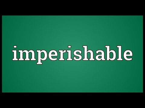 Header of imperishable