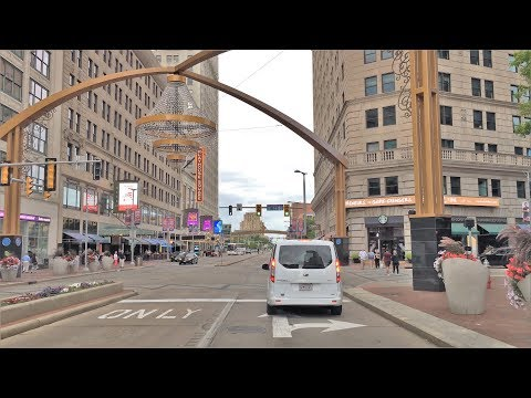 Driving Downtown - Cleveland Ohio USA