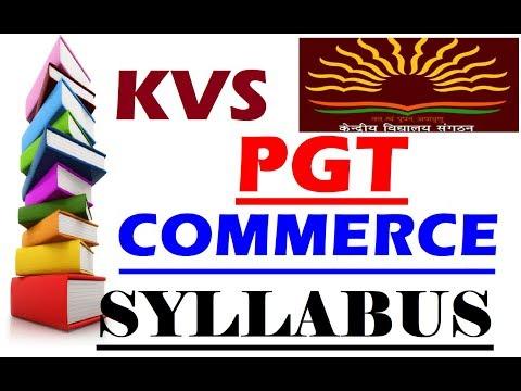 KVS PGT COMMERCE SYLLABUS 2018 RECRUITMENT|KVS PGT SYLLABUS