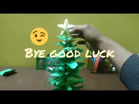 DIY christmas tree without glue super easy