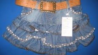 Джинсовая юбка. Лосины. Для девочки.