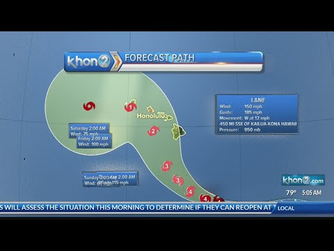 National Weather Service update on Hurricane Lane (8/21/2018 at 5A)