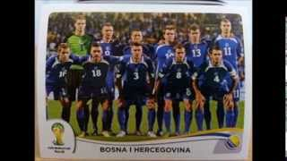 Panini Stickers BOSNIA Completed - 2014 FIFA World Cup Brazil