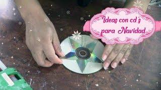 4 IDEAS EN 4 MINUTOS  IDEAS CON CD PARA NAVIDAD