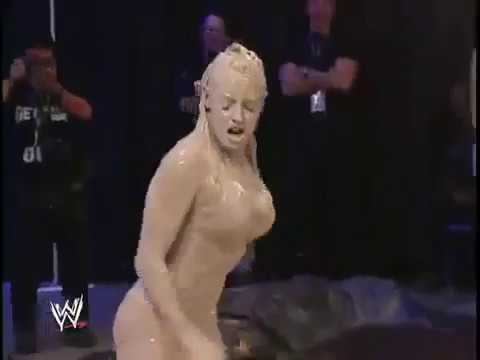 WWE Trish Stratus vs Stacy Keibler hottest figth in Chocolate thumbnail