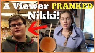 CARAMEL ONION PRANK - A Viewer Pranked Nikki! - Husband Vs Wife Pranks 2018