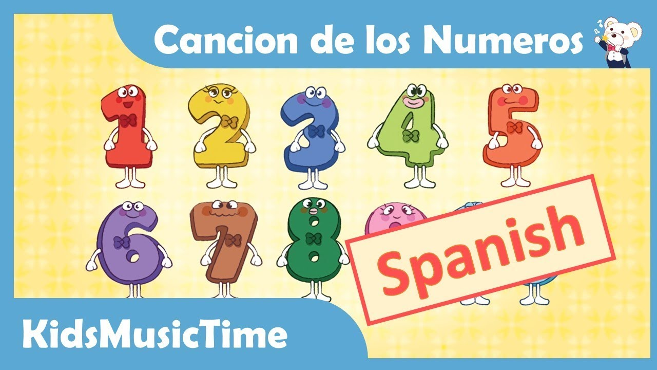 number song 1 10 in spanish cancion de los numeros learning