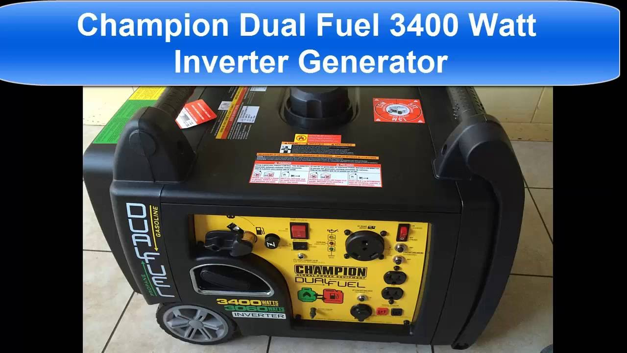 Champion Dual Fuel 3400 Watt Generator Inverter