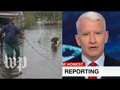 Anderson Cooper says idea of him dramatizing hurricane is 'frankly idiotic'