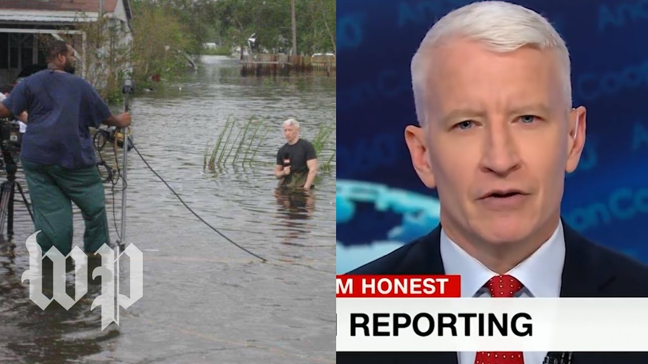 Anderson Cooper says idea of him dramatizing hurricane is ...