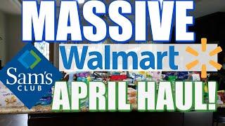 SAM'S CLUB & WALMART LOCKDOWN PREPAREDNESS GROCERY HAUL!
