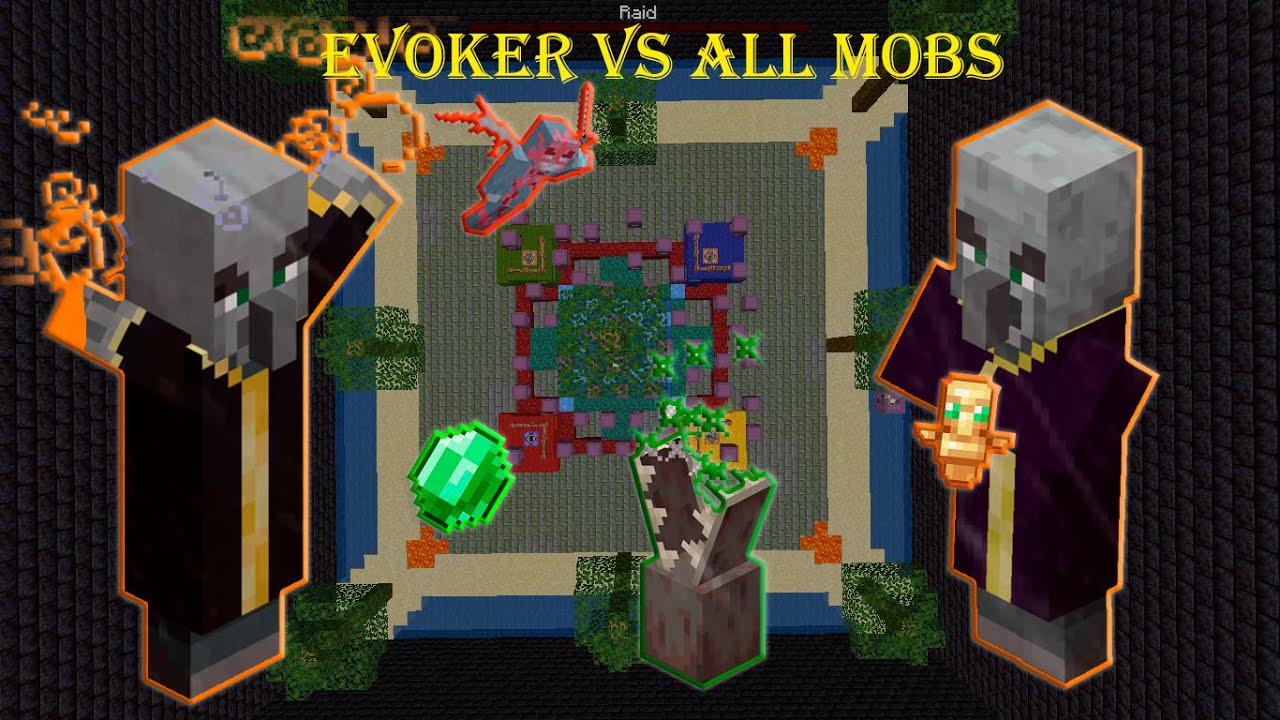 Evoker vs All Mobs - Minecraft Mob Battle 1.16.5