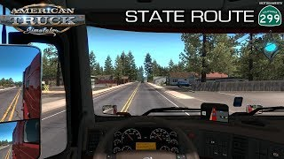 American Truck Simulator - Driving from Redding to Lakeview - New Road CA-299 [4K 60FPS]