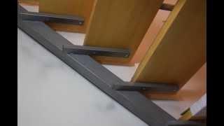 Лестница на второй этаж в каркасном доме(сравнение двух вариантов лестниц - с набежными ступенями и прямая лесстница. Лестница обшитая деревом..., 2014-12-30T19:28:26.000Z)